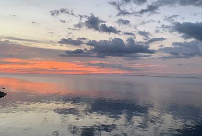 Sunrise on the St. Lawrence river. May 29, 2020